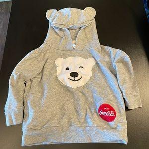 3T Gray Coca Cola bear hoodie.